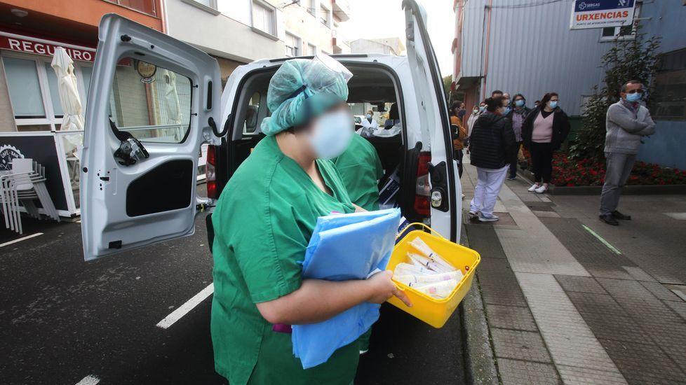 Cribado llevado a cabo el lunes en el centro de salud de Vimianzo