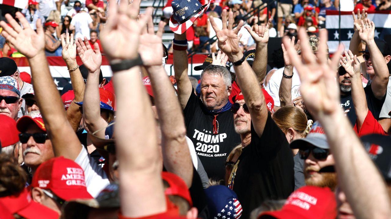 Seguidoras de Biden en un mitin en Des Moines (Iowa)
