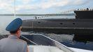 Un submarino ruso, en la base de  Severomorsk , a donde fue trasladado el buque averiado