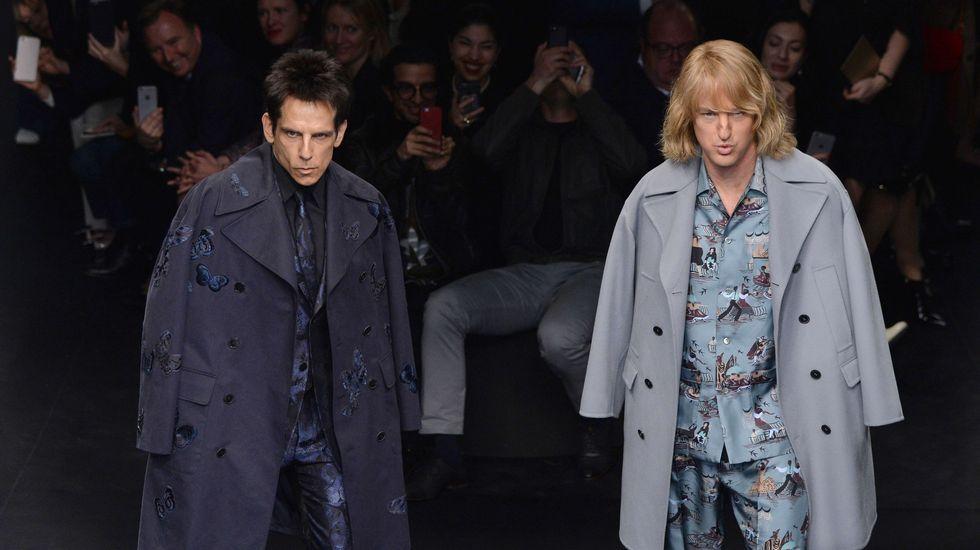 Zoolander, en la Semana de la Moda de París.Ben Stiller durante el estreno en Madrid