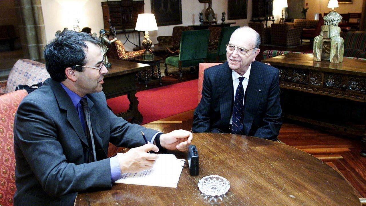Entrevista del periodista de La Voz de Galicia, Jacinto Ruiz, al ex presidente de la Xunta Fernández Albor.