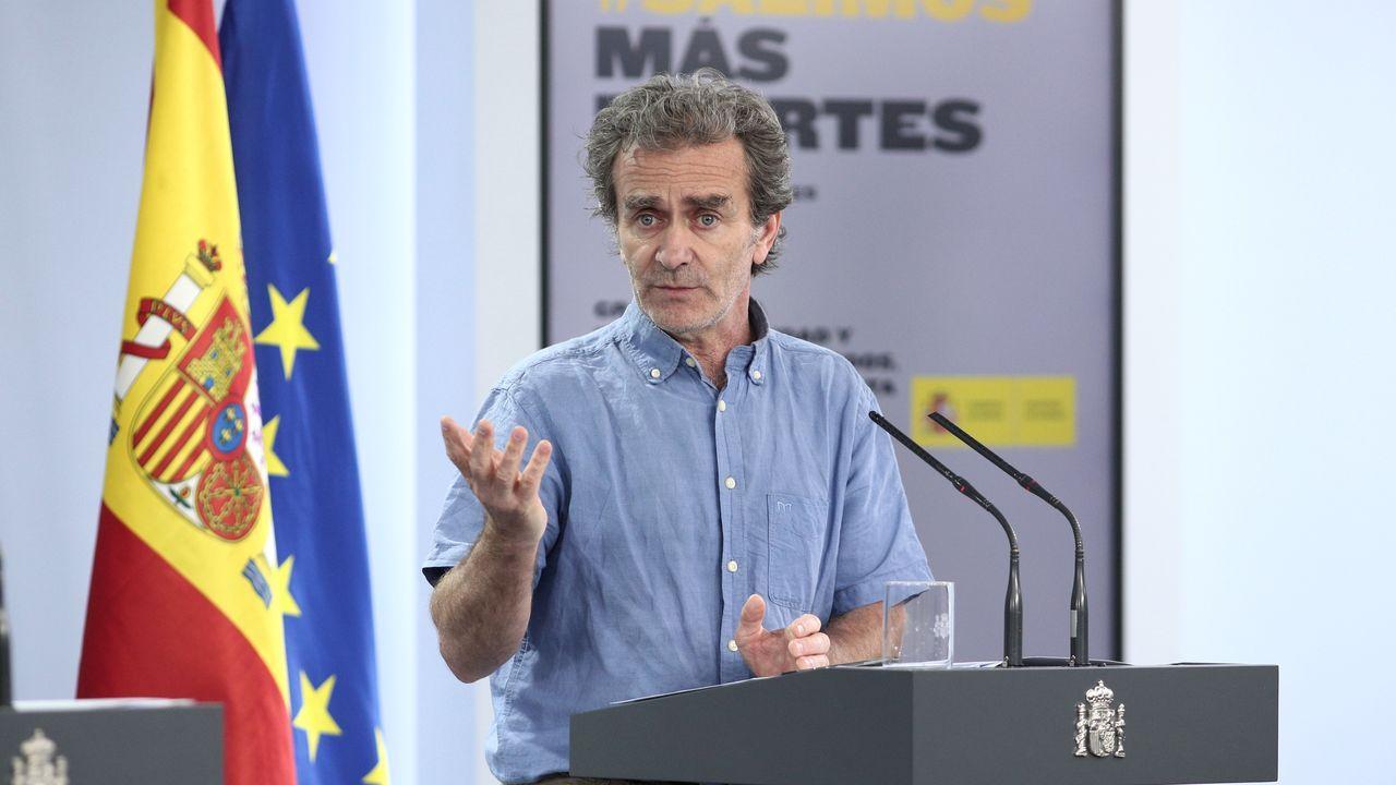 Fernando Simón, en una de sus ruedas de prensa diarias