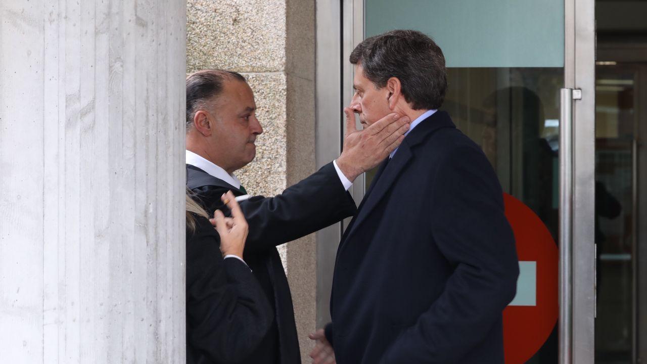 Juan Carlos Quer durante un receso de la décima jornada del juicio