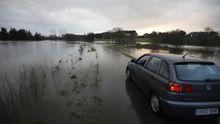 Las lluvias han dejado inundaciones en Terra Chá, en concreto en Ponte de Outeiro, en Castro de Rei