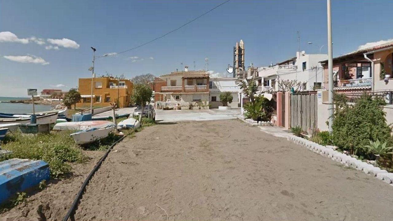 Imagen de una parte de la zona de La Araña, en Málaga