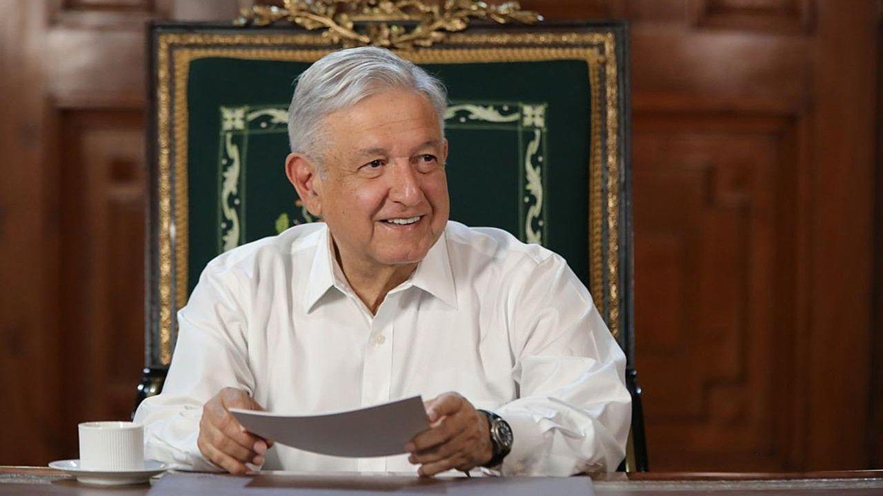 López Obrador, durante un mensaje el sábado en el Palacio Nacional en Ciudad de México