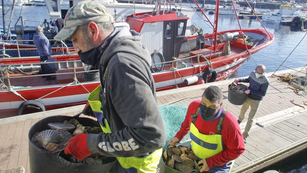 Regreso de la fragata Cristóbal Colón a Ferrol tras cinco meses con la OTAN.Hasta el 15 de abril se podrán extraer 3.000 kilos diarios de molusco en la ría ferrolana
