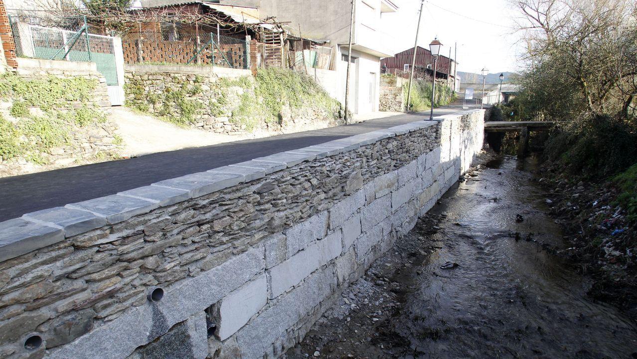 El nuevo muro de contención tiene una longitud de 27 metros