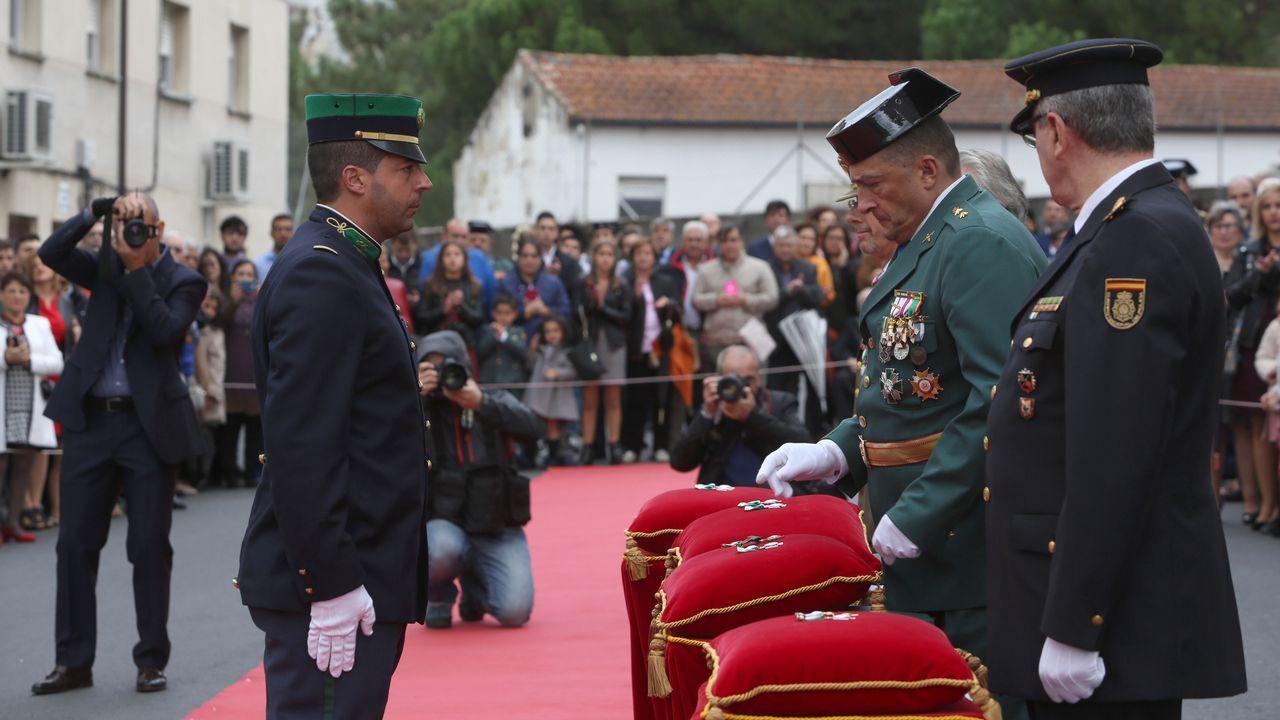 ACTO INSTITUCIONAL CASTRENSE DEL DÍA DEL PILAR.Varios miembros de la Guarda Nacional Republicada de Portugal fueron reconocidos