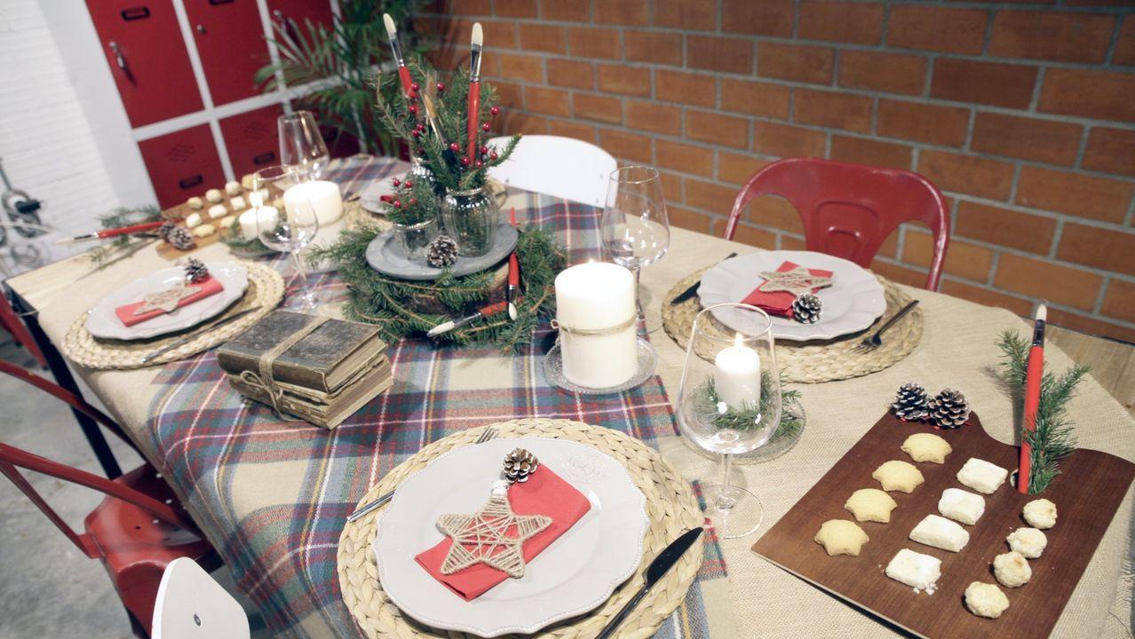 Imagen de archivo de una mesa decorada por María Magán, Elena Lampón y Nora Estévez en La Doce de Boiro