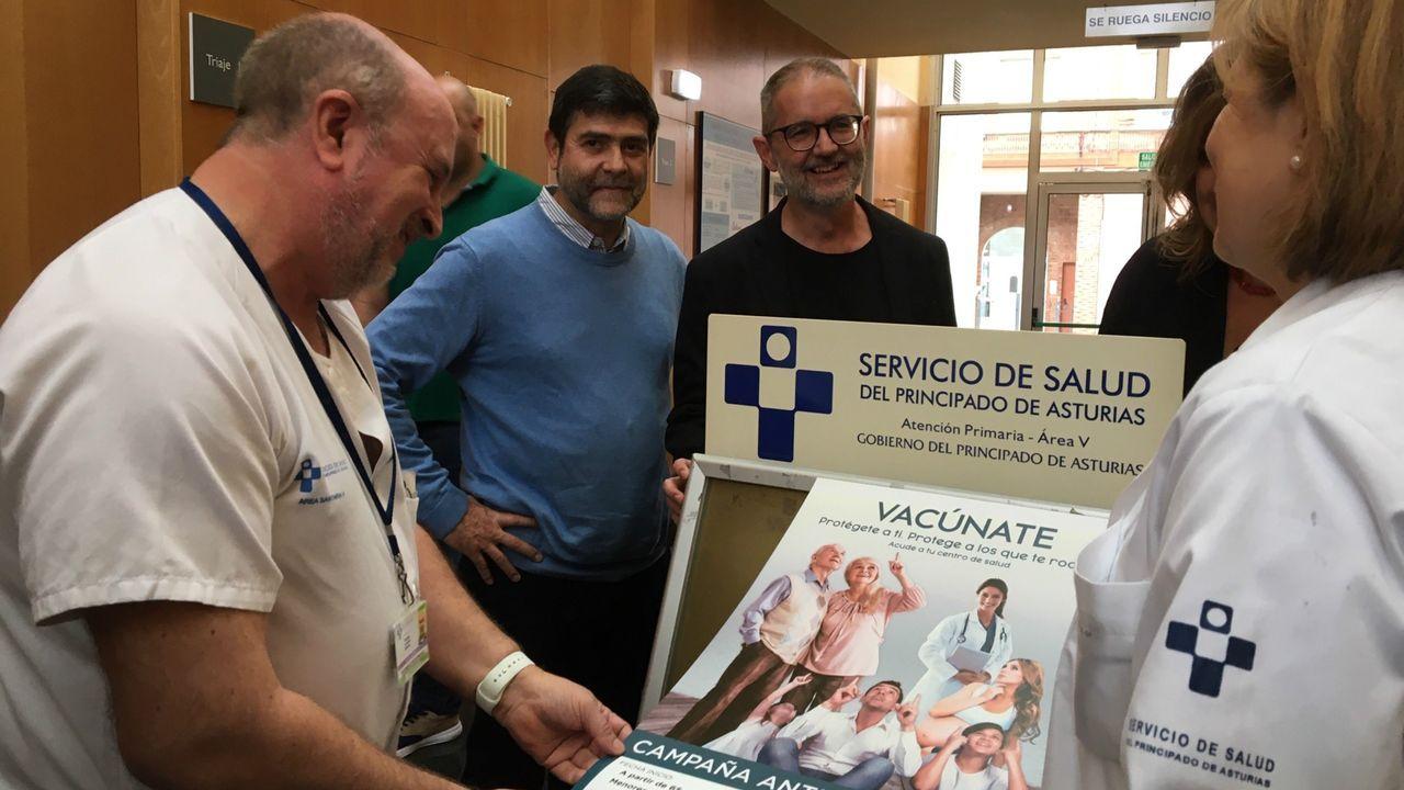 Inicio campaña de vacunación contra la gripe en Asturias
