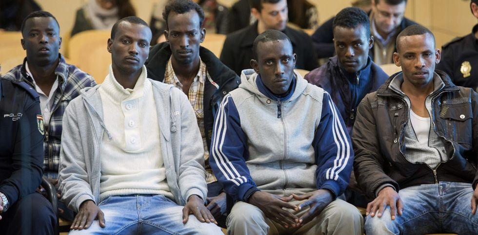 La vista contra los seis acusados comenzó ayer en la Audiencia Nacional.