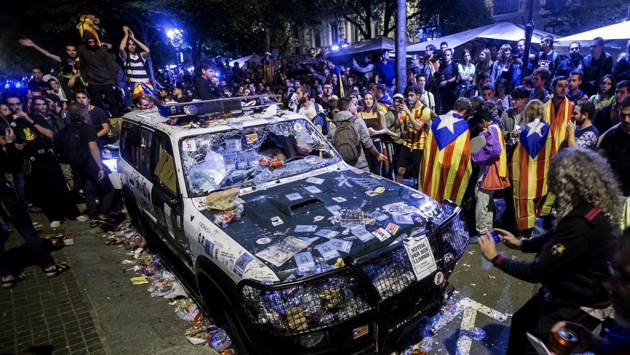 Madrugada de tensión en Barcelona