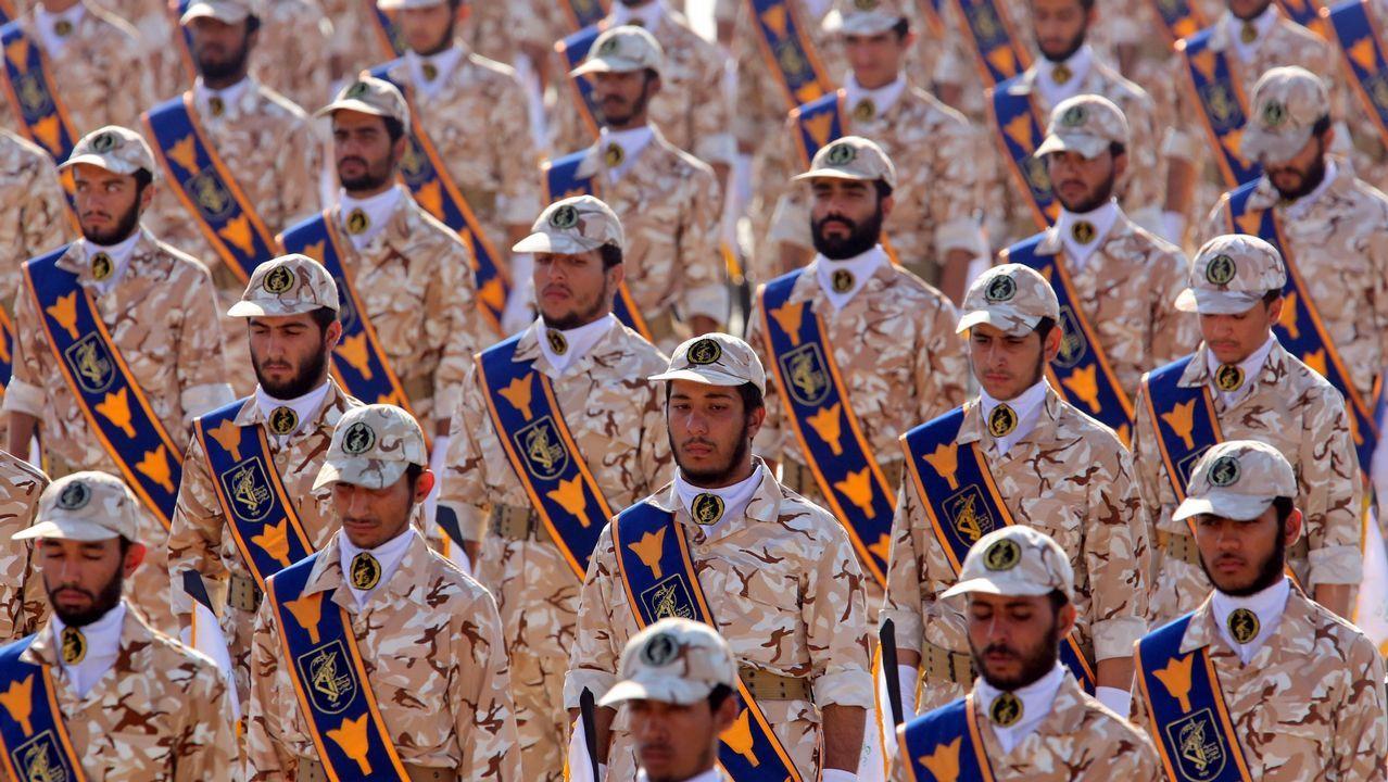 Miembros de la Guardia Revolucionaria, durante una parada militar en el 2013 en Teherán