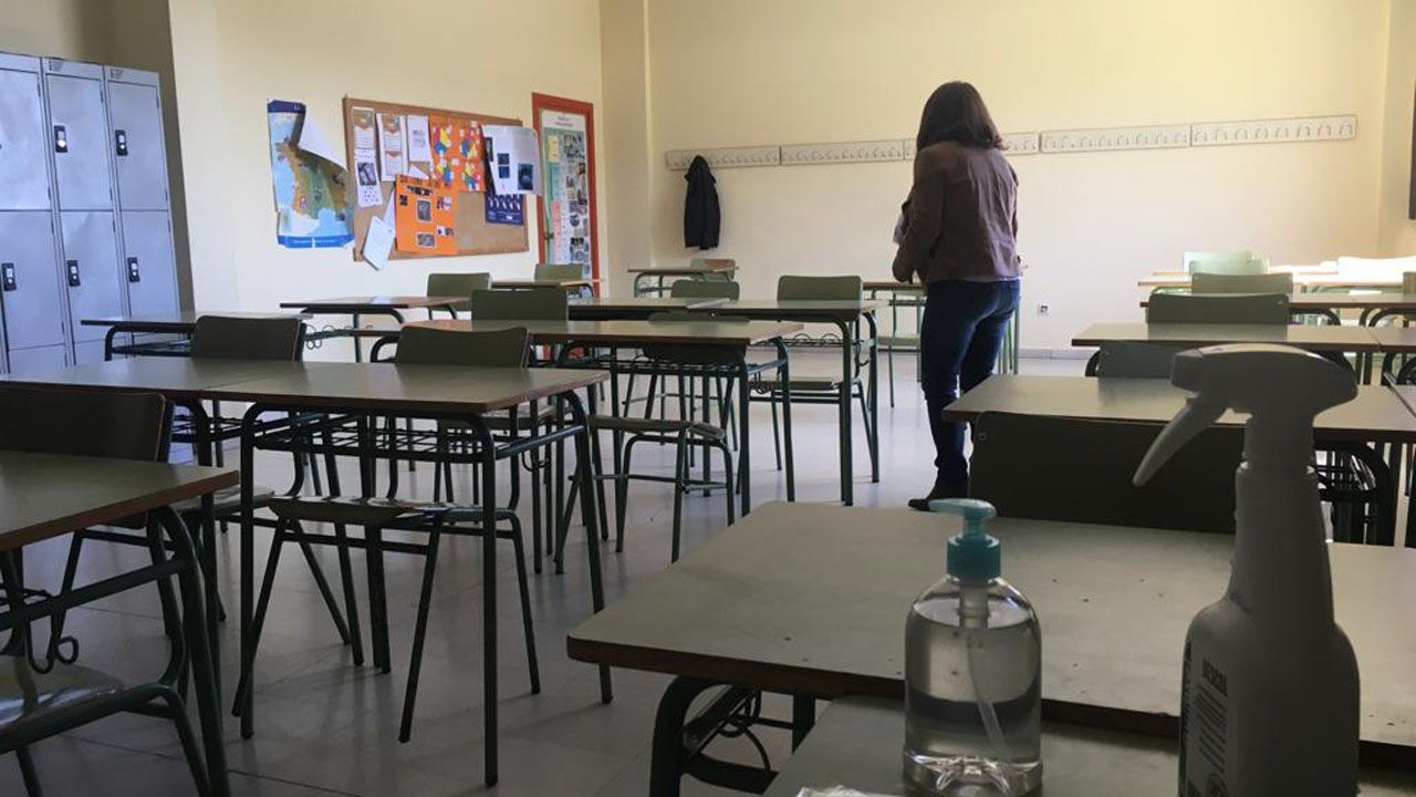 Un aula del IES Monte Naranco