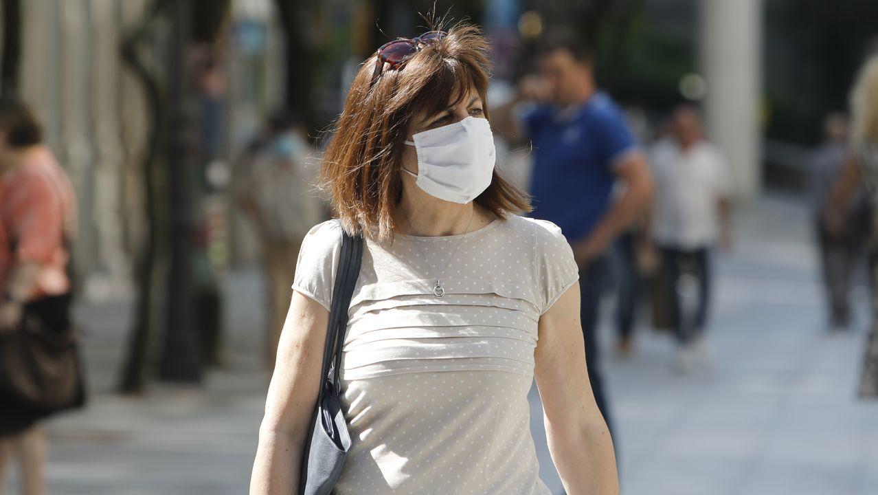 Gran parte de las mascarillas que se veían en Ourense este jueves eran quirúrgicas