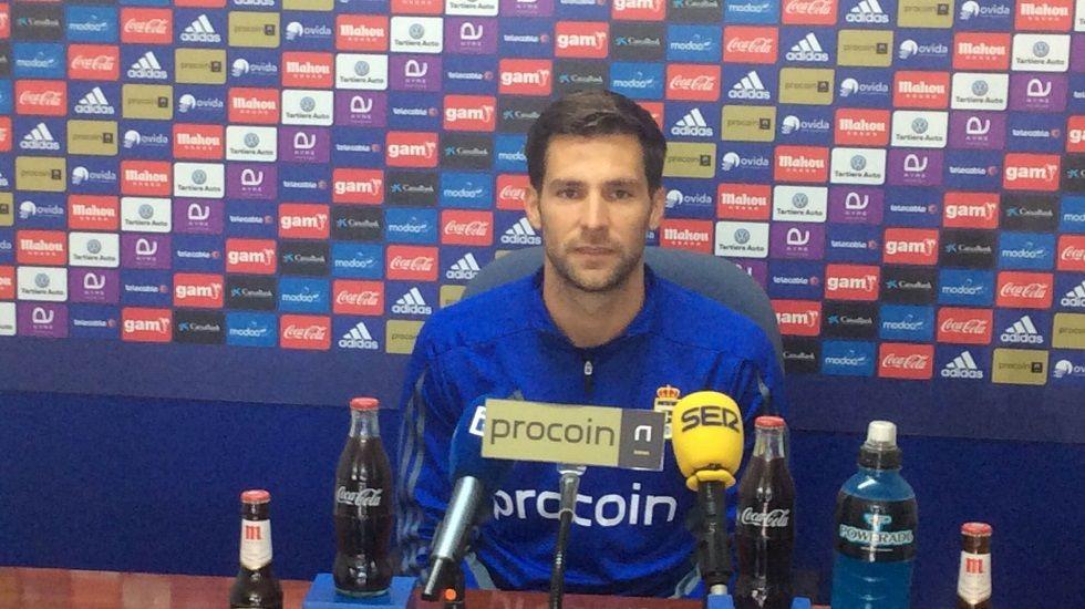 David Fernández en la rueda de prensa de esta mañana