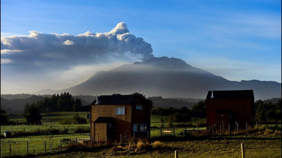 Efectos de la erupción del volcán Calbuco