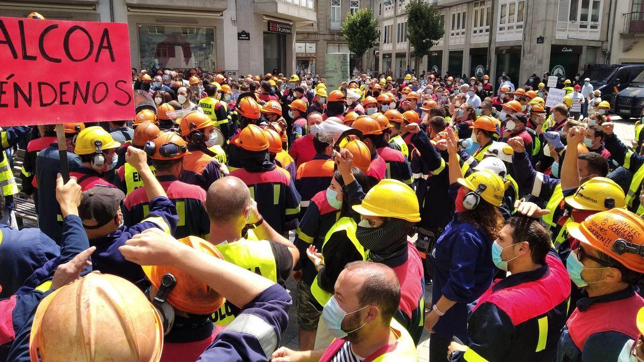 Vídeo dela última protesta contra los despidos de Alcoa