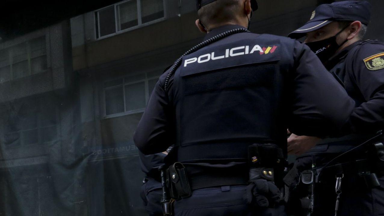 Los agentes de la Policía Nacional acudieron a Albeiros