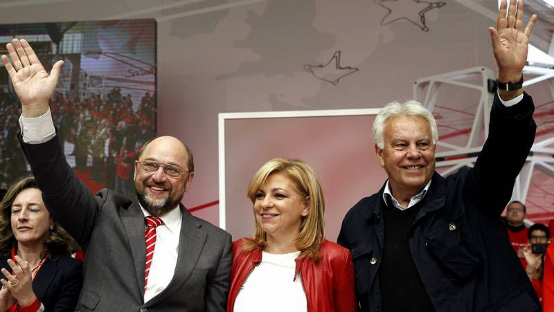 El PSOE celebró ayer su principal acto electoral a las europeas y quiso acallar las divisiones internas.