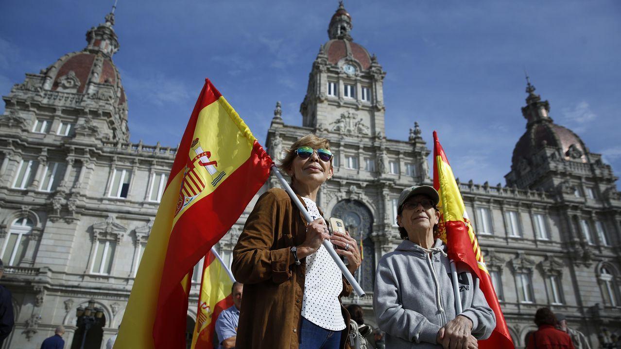Concentración en A Coruña.Concentración por la unidad de España en A Coruña