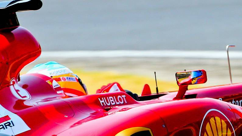 Parada en el box de Ferrari en el GP de Brasil