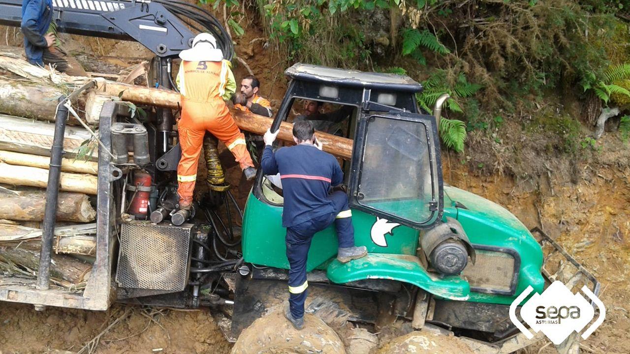 Accidente laboral en Pravia