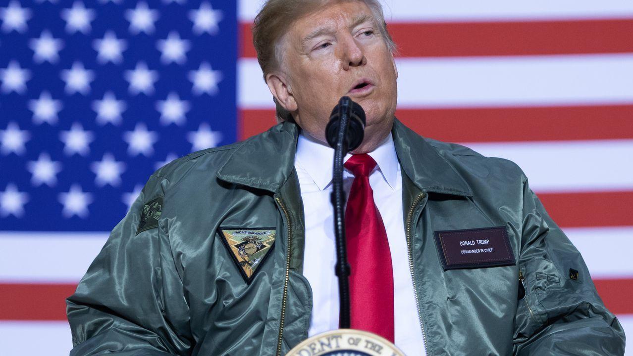 Trump visita a sus tropas en Iraq