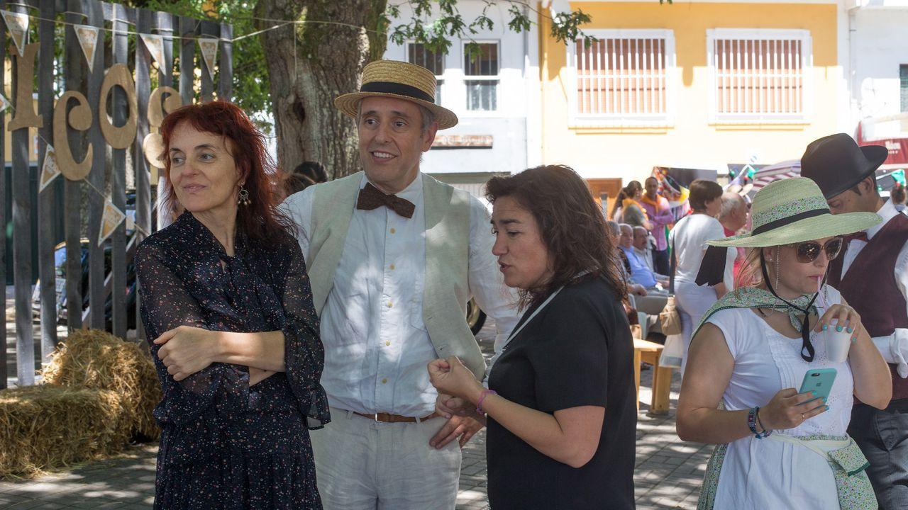 Monterroso reparte bicos a moreas.El alcalde de Monterroso, Antonio Gato