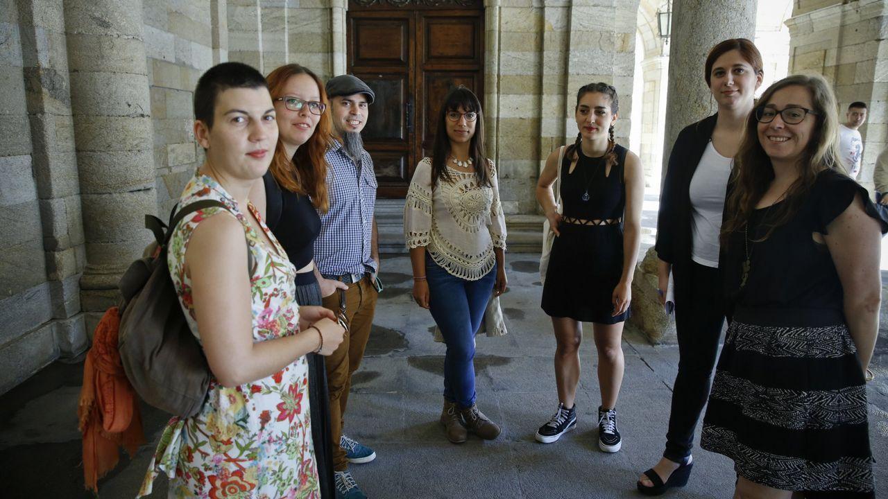 «Compostela, un ano de Voz».Este tipo de imagen tan espectacular no volverá a verse en Compostela