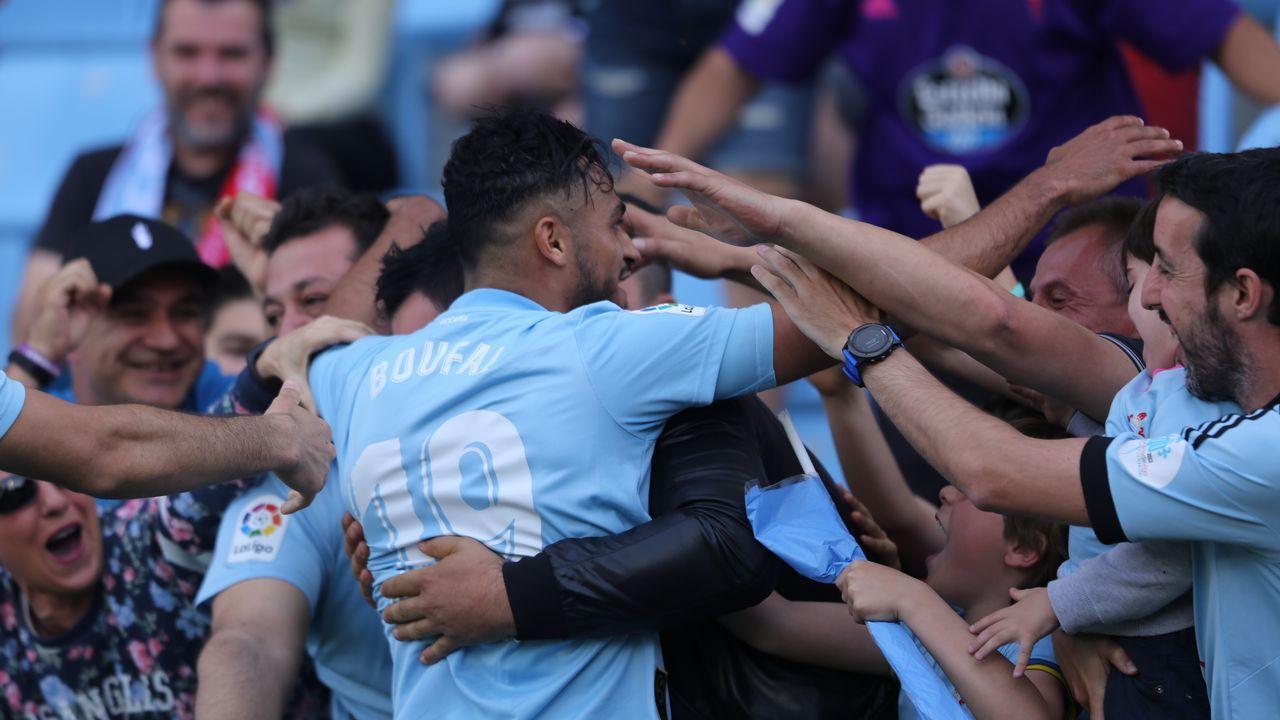 El Leganés - Celta, en imágenes.Los implicados, junto a Lobotka en un partido