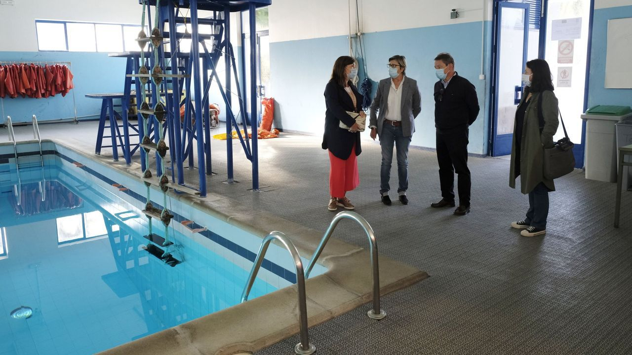 Imagen de archivo de una visita institucional a la escuela náutico-pesquera de Ferrol