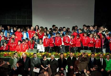 La sexta edición de la Gala do Deporte concluyó con la tradicional foto de grupo.