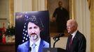 Biden, durante la cumbre telemática con Trudeau