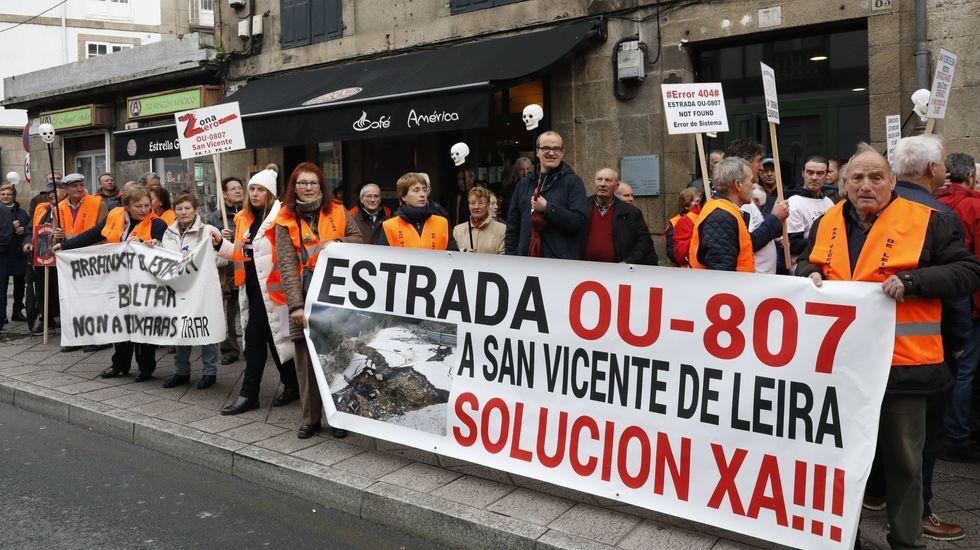 El alcalde de Vilamartín espera que en breve haya acuerdos para poder arreglar la carretera de San Vicente