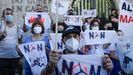 Protesta en A Coruña en contra de los parques macroeólicos
