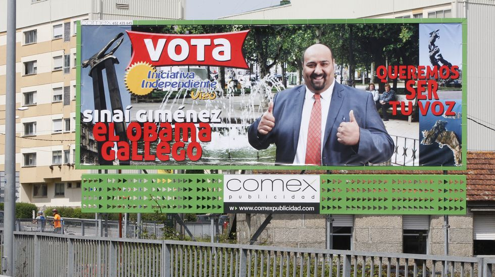 La campaña del autoproclamado Obama gallego, el candidato independiente Sinaí Giménez, sigue dando que hablar por su originalidad