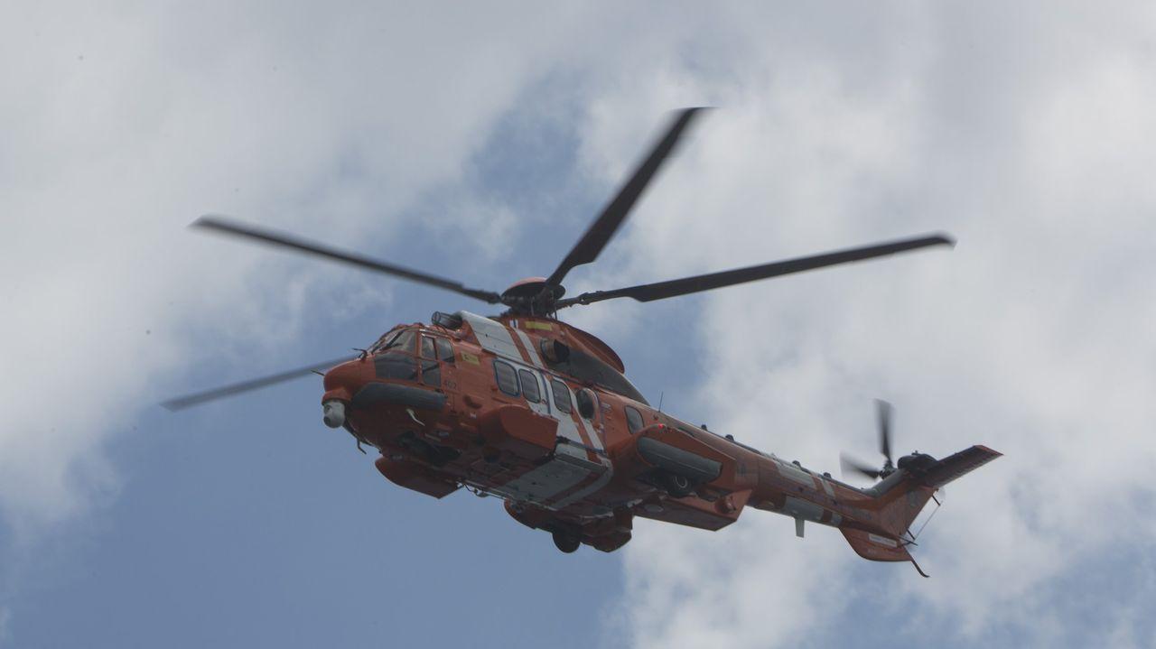 periferia.Imagen de archivo de un helicóptero de Salvamento Marítimo