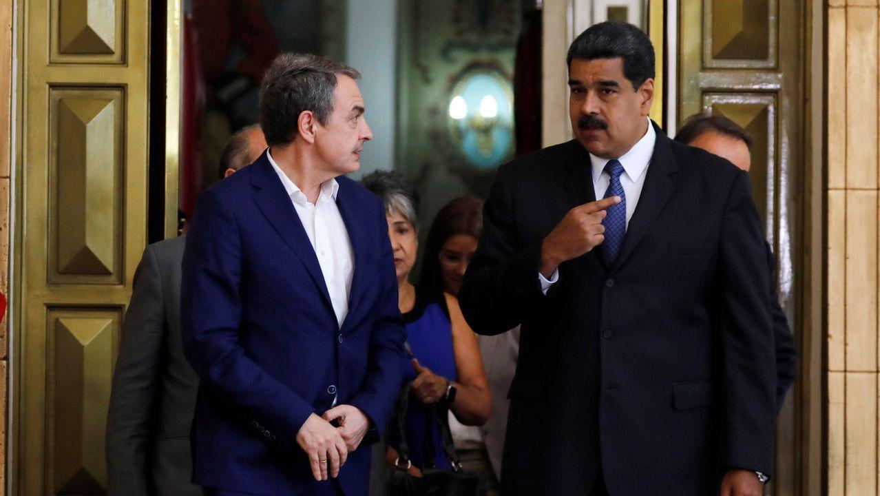 Zapatero y Maduro mantuvieron un encuentro en Caracas