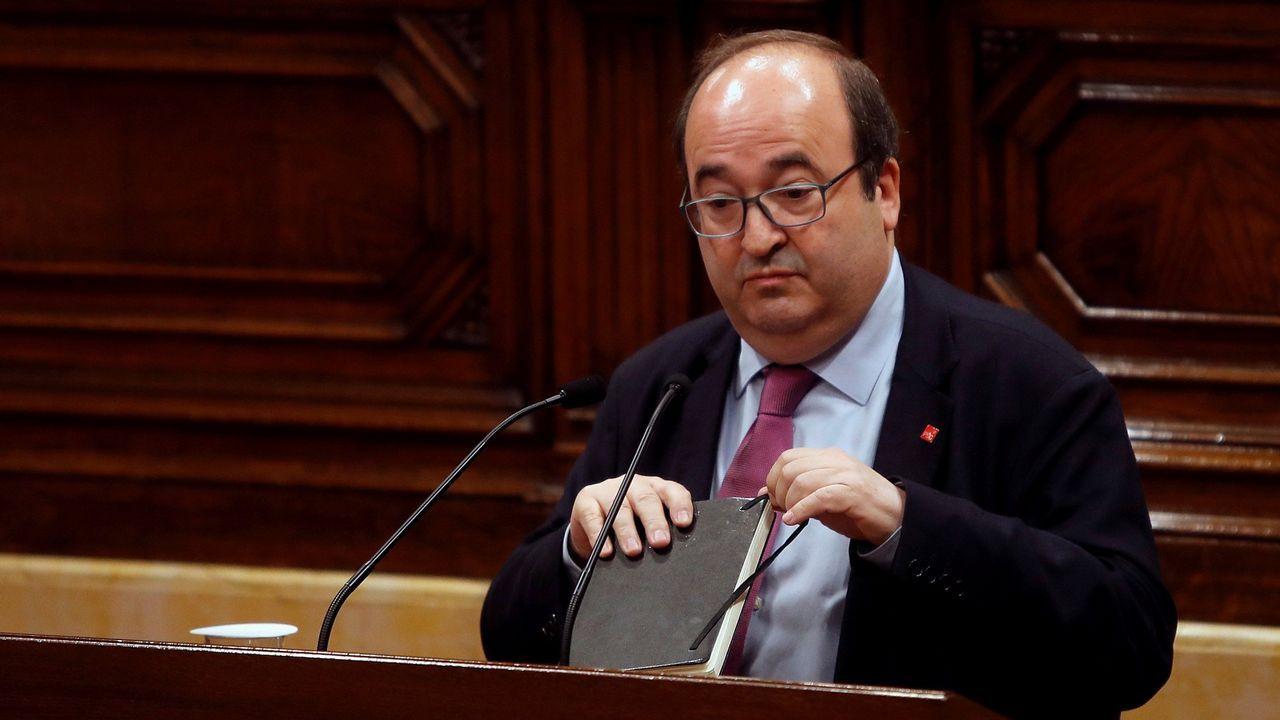 Miquel Iceta (PSC). Podría dar el salto al Gobierno de Pedro Sánchez.