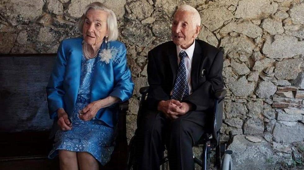 Os Eidos, patrimonio recuperado de Redondela.Manuela Álvarez y Vidal Rivas en la boda de su nieta más joven, celebrada el pasado año