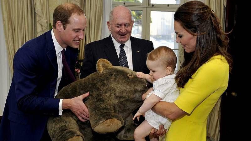 Sídney recibe a los duques de Cambridge.El traje de su pedida de mano.