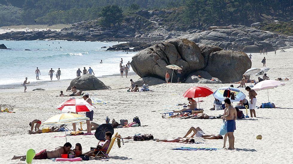 Playa de Nerga, en Cangas