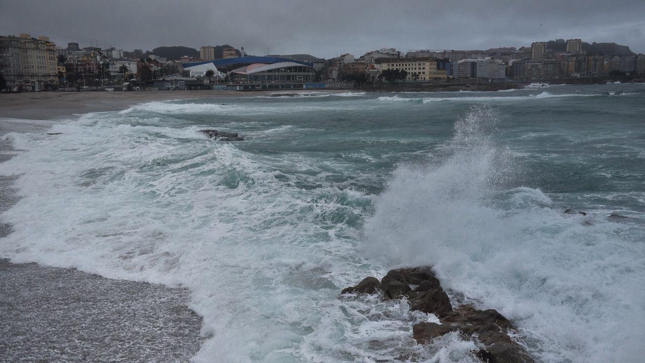 En el litoral de A Coruña y Pontevedra hay alerta roja