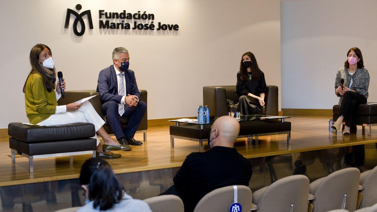 Detalle del acto de presentación del premio, en la Fundación María José Jove