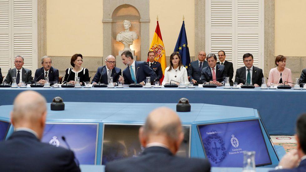 Moal, Pueblo Ejemplar 2018.Un momento de la reunión anual de los patronos de la Fundación Princesa de Asturias