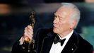 Christopher Plummer recoge en el 2012 el Óscar al mejor actor de reparto por su papel en el filme «Beginners»