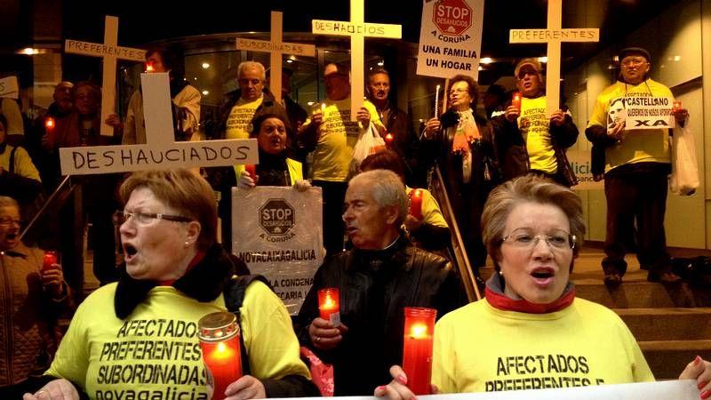 Acto contra la violencia de género en A Coruña