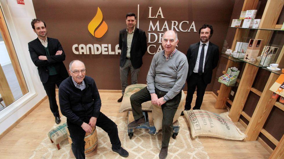 Los reyes gallegos del café.Samuel Prada León en unas imágenes cedidas por su familia